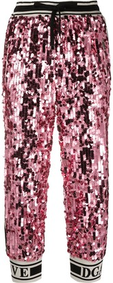 Dolce & Gabbana Sequin Track Pants