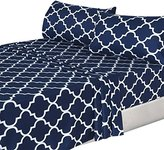 Utopia Bedding 3 Piece Bed Sheets Set (Twin, Navy Blue) 1 Flat Sheet 1 Fitted Sheet and 1 Pillow Cases - Hotel Quality Brushed Velvety Microfiber - Luxurious - Extremely Durable -