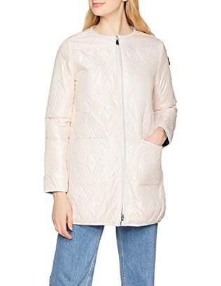 Trussardi Jeans Women's Reversibile Collarless Coat Regular Fit Matt Light Nylon Jacket,(Size :40)