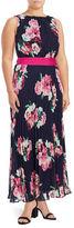Eliza J Plus Floral Sleeveless Dress