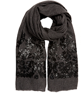 John Lewis Matt Sequin Scarf, Grey/Black