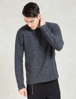 A Question Of Navy Raw Edges Sweater