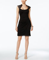 Xscape Evenings X By Lace-Trim Sheath Dress