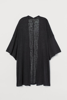 H&M Slub-knit Cardigan - Black