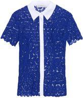 Mary Katrantzou Owena paisley macramé-lace blouse