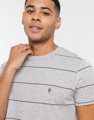 French Connection thin stripe t-shirt in gray