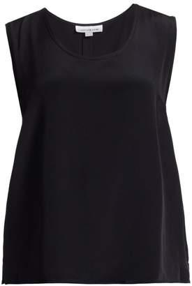 Caroline Rose Caroline Rose, Plus Size Silk Crepe Tank Top