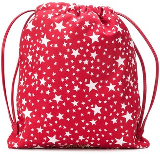 Miu Miu Star Print Drawstring Backpack