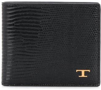 Tod's lizard skin-effect wallet