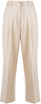 Agnona High Rise Cropped Trousers