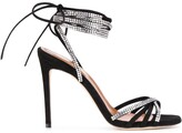 Paris Texas crystal-embellished 120mm lace-up sandals