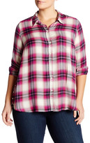 Lucky Brand Plaid Button Side Shirt (Plus Size)