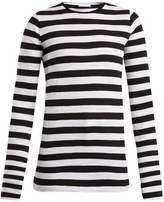 Raey Long-sleeved striped slubby cotton-jersey T-shirt