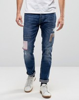 Blend of America Patchwork Twister Slim Jeans