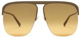 Givenchy Gv Ray Metal Aviator Sunglasses - Khaki