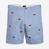 """J.Crew Factory 9"""" embroidered oxford Gramercy short"""