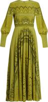 Valentino Swallow Metamorphosis-print silk dress