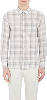 Officine Generale MEN'S PLAID FLANNEL SHIRT