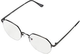 Quay Bossy (Black/Clear Blue Light) Fashion Sunglasses