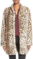 Via Spiga Cheetah Print Faux Fur Coat
