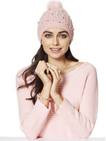 New York & Co. Faux-Pearl Pom-Pom Hat