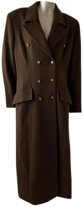 Valentino Brown Cashmere Coat for Women Vintage