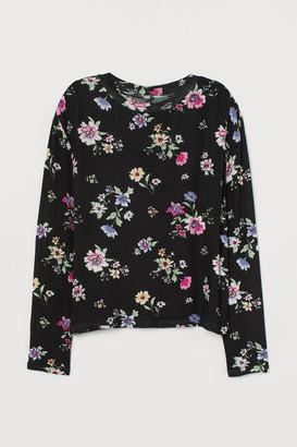 H&M Patterned Sweater - Black
