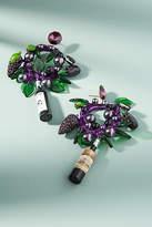 Venessa Arizaga Grape Charm Hoop Earrings