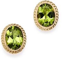 Bloomingdale's Peridot Oval Bezel Stud Earrings in 14K Yellow Gold - 100% Exclusive