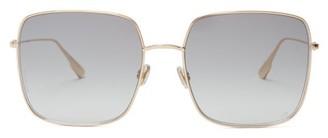 Christian Dior Diorstellaire1 Square Metal Sunglasses - Womens - Grey