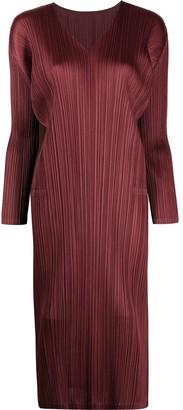 Pleats Please Issey Miyake Plisse Midi Dress