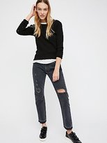 Levi's 501C Distressed Crop Jeans by at Free People