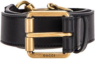 Gucci Horsebit Leather Belt in Black | FWRD