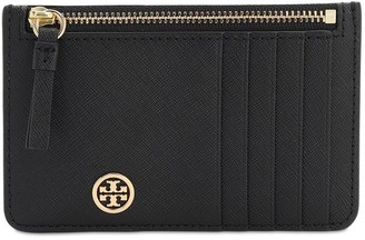 Tory Burch Robinson Leather Zip Card Holder
