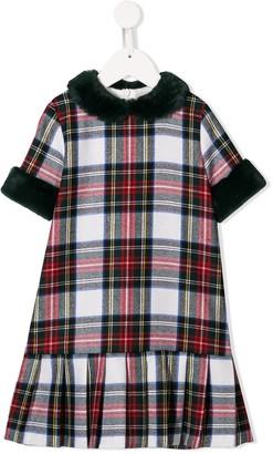 Il Gufo Tartan Print Dress