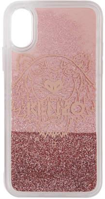 Kenzo Pink Glitter Tiger Head iPhone X/XS Case