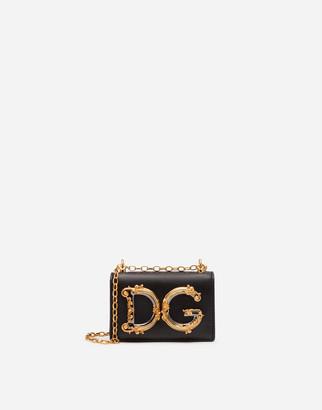 Dolce & Gabbana Girls Micro Bag In Plain Calfskin