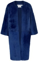 Amanda Wakeley Caro Sapphire Fur Coat