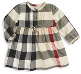 Burberry Infant Girl's 'Emalie' Check Cotton Flannel Dress