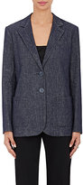 Giorgio Armani Women's Denim Two-Button Jacket-BLUE, NAVY