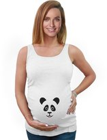 TeeStars - My Little Panda - Cute Baby Panda Pregnancy Maternity Tank Top Tunic
