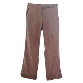 Brunello Cucinelli Beige Silk Trousers
