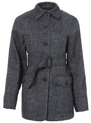 LVIR Signature Stitch Wool & Linen-Blend Jacket