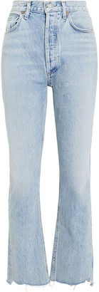 A Gold E Agolde Riley High-Rise Jeans