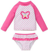 Little Me Baby Girls Baby Girls Two-Piece Butterfly Rashguard and Bloomer Set