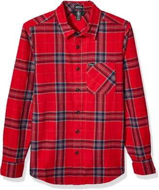 Volcom Caden Plaid L/S Men's Long Sleeve Shirt Mens A0531906