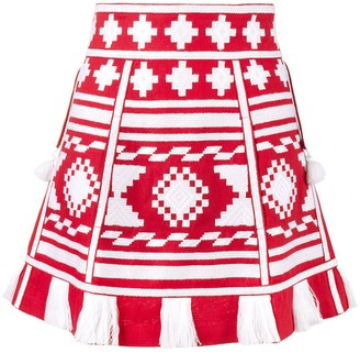 Vita Kin Croatia embroidered mini skirt