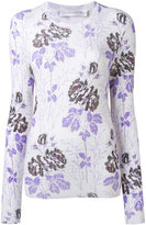 Victoria Beckham floral ribbed knit - women - Virgin Wool - 12