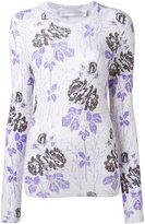 Victoria Beckham floral ribbed knit