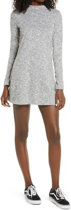 La La Land Creative Co Mock Neck Long Sleeve Minidress